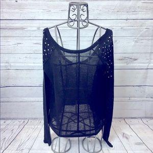 PINK Victoria's Secret Black Bling Sweater